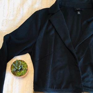 Mossimo   half zip blazer • m